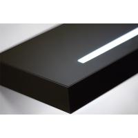 Полка-светильник Just-50, 600х200 мм, черный глянец, стекло покраска+матированное световое окошко