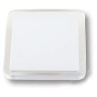 697BL Ручка кнопка квадратная модерн, белый