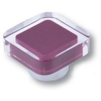 697MO Ручка кнопка квадратная модерн, фиолетовый
