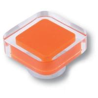 697NA Ручка кнопка квадратная модерн, оранжевый
