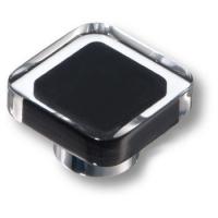 697NE Ручка кнопка квадратная модерн, черный