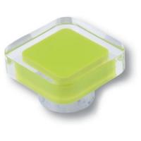 697VE Ручка кнопка квадратная модерн, салатовый