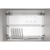 Комплект посудосушителя с алюминиевой рамкой в шкаф 800 мм, ДСП 18, хром