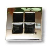 7174.0038.026.083 Ручка кнопка эксклюзивная коллекция, глянцевый хром с черной эмалью