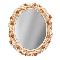 Зеркало ПУ овальное O0037SF 900x1050 золото 1 (эмаль)