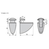 """5650-055.SV.28  Менсолодержатель """"Пеликан"""", отделка хром матовый, малый, комплект 2 штуки"""
