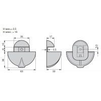 5652-33.PC.28  Менсолодержатель овальный, отделка хром глянец, комплект 2 штуки