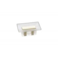 8.1069.0016.94-0404 Ручка-кнопка 16мм, отделка транспарент матовый + кремовый