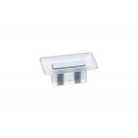 8.1069.0016.94-0419 Ручка-кнопка 16мм, отделка транспарент матовый + светло-голубой