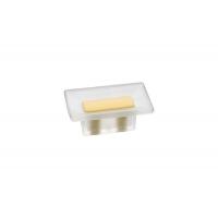 8.1069.0016.94-0454 Ручка-кнопка 16мм, отделка транспарент матовый + жёлтый