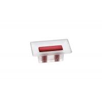 8.1069.0016.94-0472 Ручка-кнопка 16мм, отделка транспарент матовый + красный