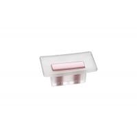 8.1069.0016.94-77 Ручка-кнопка 16мм, отделка транспарент матовый + розовый