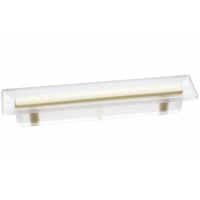 8.1069.0096.94-0404 Ручка-скоба 96мм, отделка транспарент матовый + кремовый