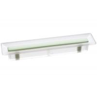 8.1069.0096.94-0411 Ручка-скоба 96мм, отделка транспарент матовый + светло-зелёный