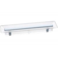 8.1069.0096.94-0419 Ручка-скоба 96мм, отделка транспарент матовый + светло-голубой