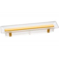 8.1069.0096.94-0454 Ручка-скоба 96мм, отделка транспарент матовый + жёлтый