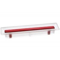 8.1069.0096.94-0472 Ручка-скоба 96мм, отделка транспарент матовый + красный