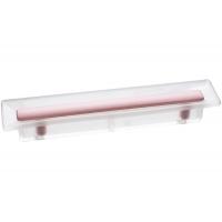 8.1069.0096.94-77 Ручка-скоба 96мм, отделка транспарент матовый + розовый