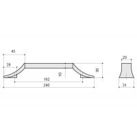 8.1093.0192.40-70 Ручка-скоба 192мм, отделка хром глянец + белый матовый