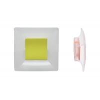 8.1100.0032.94-0518 Ручка-кнопка 32мм, отделка транспарент матовый + оливковый