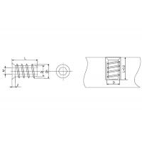Бусола М8 потай, d=10, L=15, отделка цинк (за 100 штук)