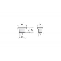 8080/400 Ручка-кнопка 16мм, отделка хром глянец