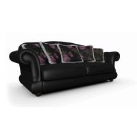 Мебельная ткань искусственная кожа MARGO Black (Марго Блэк)