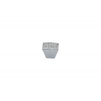 CH0101-000.PC Ручка-кнопка, отделка хром глянец + горный хрусталь