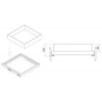Ящик стеклянный Н=100 для рамки в базу 530, арабика с шелкографией