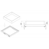 Ящик стеклянный Н=100 для рамки в базу 680, арабика с шелкографией