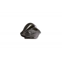 24259Z06000.48 Ручка-кнопка, отделка воронёный глянец + горный хрусталь