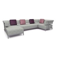Мебельная ткань жаккард VISION plain light grey (Визион Плайн Лайт Грэй)