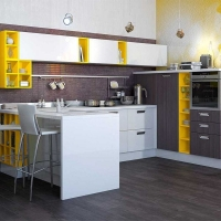 Кухонный гарнитур 182, фасады ЛДСП, любые размеры, изготовление на заказ