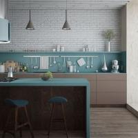 Кухонный гарнитур 312, фасады ЛДСП, любые размеры, изготовление на заказ