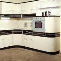 Кухонный гарнитур 8, фасады эмаль+шпон, любые размеры, изготовление на заказ