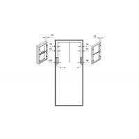 Расширитель 20 мм для лифта SE08, отделка коричневая
