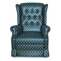 Мебельная ткань жаккард CHATEAU Losange Cobalt (Шато Лёсандж Кобалт)