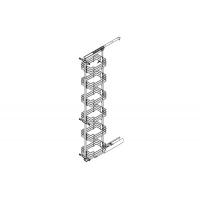 Рама для выдвижной колонны в базу 450, Н=1835/2185, отделка серый