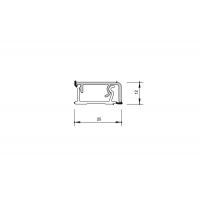 Бортик прямоугольный H.12 алюминий, к столешнице 8STEPEN L=4200