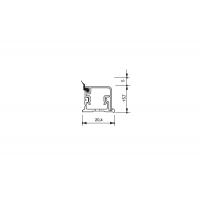 Бортик прямоугольный H.15 алюминий анодированный, к столешнице 8STEPEN L=3900