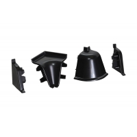 Комплект угловых элементов для овального бортика, цвет черный