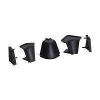 Комплект угловых элементов для овального бортика 55/63, цвет черный