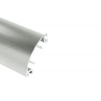 Бортик овальный SH нержавеющая сталь, гладкий к столешнице 8STEPEN L=4100
