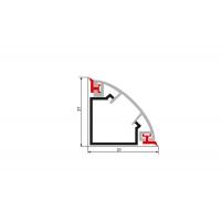 Бортик овальный SH нержавеющая сталь, рифленый к столешнице 8STEPEN L=4100