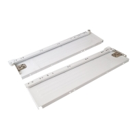 Боковины Firmax с роликовыми направляющими, H=86 мм, L=450мм, белый RAL9003, (4 части)