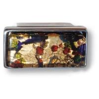 EF263207 Ручка кнопка эксклюзивная коллекция разноцветное муранское стекло , глянцевый хром