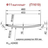 Панель радиусная (гнутая) Ф11-16, толщина 16мм