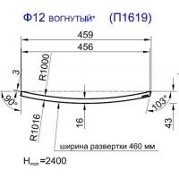 Панель радиусная (гнутая) Ф12-16, толщина 16мм