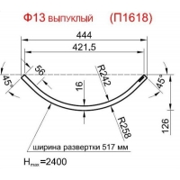 Панель радиусная (гнутая) Ф13-16, толщина 16мм