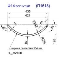 Панель радиусная (гнутая) Ф14-16, толщина 16мм